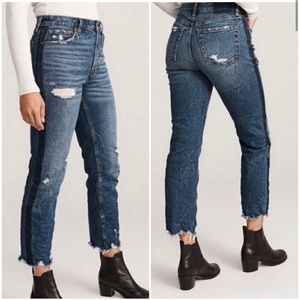 Abercrombie Simone High Rise Ankle Straight Jeans